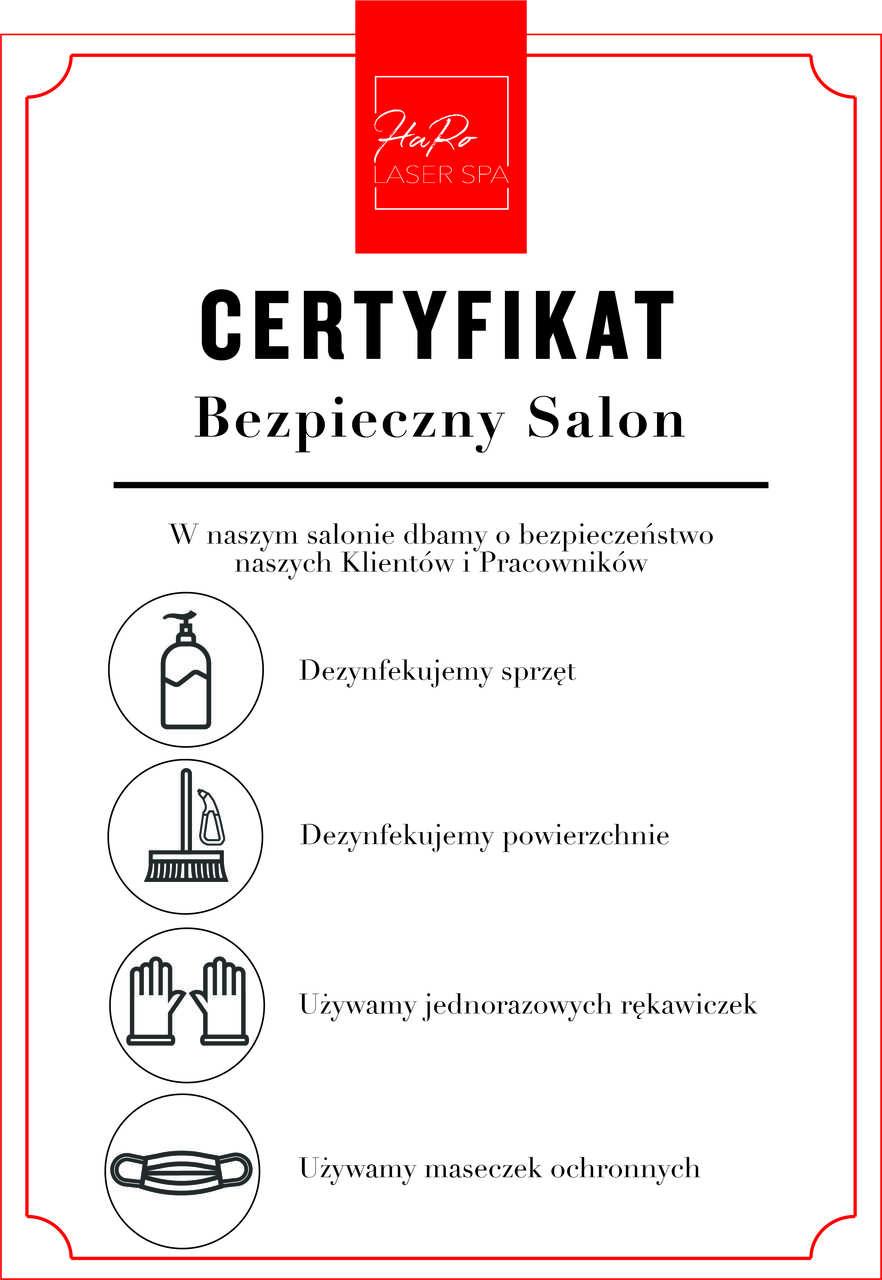 Certyfikat bezpieczny salon